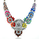 Hohot Womens  New Style Western Fashion Rainbow Flower Famous Brand Necklace