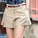 Womens Pure Cotton Goffer Leisure Short Pants