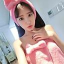 bowknot lindo pijama flanel suave de las mujeres