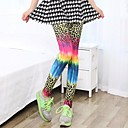 Womens Fashion Sexy Colorful Leopard Flsorescence Skinny Legging Pants