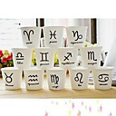 12 constelación de símbolos de mini taza de cerámica (12pcs/set), 7x7x6.5cm