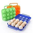12 ciñe Cajas de plástico de huevo (color al azar)