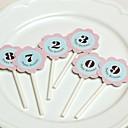 Digital Tarjeta de cumpleaños de flores de la torta (más colores)