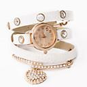 Dare U Fashion Punk Leather Diamonded Stylish Chain Watch
