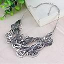 Womens Retro Gray Alloy Necklace Jewelry
