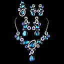 collar de moda Naizhu rhinestone de la aleación de cuatro piezas conjunto