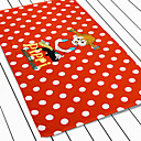 Red And White Spot Cotton Beach Towel With Cartoon Pattern 30  62L