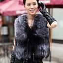 Image For De las mujeres con cuello en V de ocio de moda Chaleco Grandes Patios Chaleco Chaleco