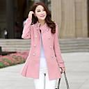 Womens Medium And Long Tweed Trench Coat