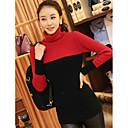 cuello alto suéter del color del contraste de las mujeres hansifei
