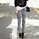 Womens Fashion Geometric Pattern Printing Slim Leggings
