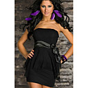 Sweet Womens Strapless Solid Color Chalaza Dress