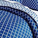 3 piezas - Estilo Contemporáneo Moderno azul y negro Superposición Trellis Consolador