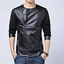 Men's Fashion Slim Casual PU Coat
