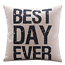 Best Day Ever Cotton/Linen Decorative Pillow Cover