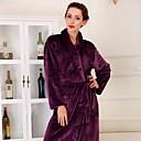 traje de baño, de alta clase de prendas de vestir de color púrpura oscuro albornoz espesar