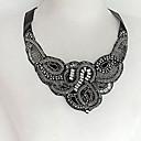 Hohot Womens Western Fashion Silk Ribbon Diamond Fake Collar Neckalce