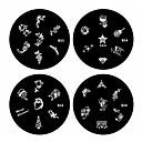 1PCS Nail Art Stamp Stamping Image Template Plate B Series NO.33-36(Assorted Pattern)