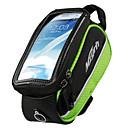 bolso del teléfono marco mzyrh 4.8 pulgadas negro y verde con pantalla tangible pvc transparente
