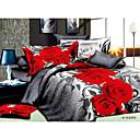 ailianna 4 pieza 3d rosa roja conjunto edredón de impresión