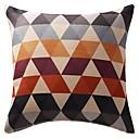 """18 """"de doble cara del triángulo geométrico colorida ropa de algodón de la impresión cubierta decorativa almohada"""