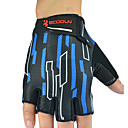 BOODUN Mens Black and Blue Microfiber Bike Bicycle Half Finger Cycling Gloves