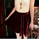 Womens Fashion Fold Solid Color Skirt