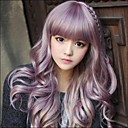 Japanese Harajuku Zippe Mix Purple Gradient Curly Lolita Cosplay Party Wig