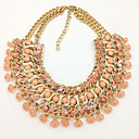 Hohot Womens 2014 New Style Handmade Weave Multilayers Resin Necklace