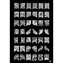 1pcs 42 modelo planta uñas Art Sello estampado en la placa de plantilla c
