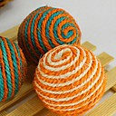 Cotton and Linen Woven Ball Toy for Pets Dogs Cats (1-Piece, Random Color)