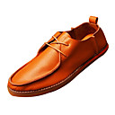 Leather Mens Flat Heel Round Toe Comfort Oxfords with Lace-up Shoes(More Colors)
