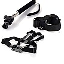 Gopro Accessories Chest Strap  Head Strap Handle Monopod  Tripod Adapter For GoPro Hero 1 2 3 3Camera