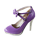 Womens Stiletto Heel Mary Jane Pumps with Bowknot Shoes(More Colors)