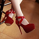 Womens Stiletto Heel Round Toe Pomps/Heels Shoes (More Colors)