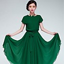 Songyi manga ajuste batwing vestido color sólido flojo de las mujeres