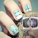 12 colores rollos de cinta de la raya de goma etiqueta engomada del clavo de línea decoración del arte del maquillaje