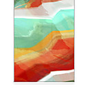 Abstract Warm Colors Painting Roller Shade