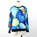Weige azul piedra de impresión suéter wy1032 de las mujeres