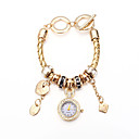 pulsera de la aleación de la vendimia mujeres Tomono ver con diamantes de imitación (de oro)