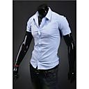 Camisa Casual Camiseta de manga corta Kuxing Hombres (LightBlue)