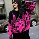 Womens Fashion Small House Pattern Pullover Street Knitted Sweaters