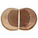 1 Pcs Natural High Quality Thicken Lovely And Delicacy Peach Wooden Comb