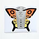 100 Pcs mariposa Formas de arte de uñas Herramientas de acrílico UV Gel Consejos Guía de Extensión