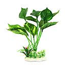 15cm Plantas Simulación verdes para el tanque de pescados de la decoración