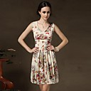 Womens  Bodycon Show Thin Butterfly Printing Dress