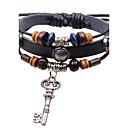 Unisexs Open the Happy Doors Key  Leather  Bracelets