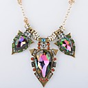 Womens Fashion Alloy Colorful Gemstone Necklace