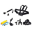 6 in 1 kit Chest Head StrapFloating Grip Handlebar Seatpost  Monopod Suction Cup For GoPro Hero 1 2 3 3