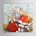Hand Painted Oil Painting Floral Knife Painted Butterflies Flowers  with Stretched Frame